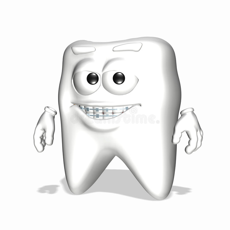 Diente sonriente - paréntesis ilustración del vector