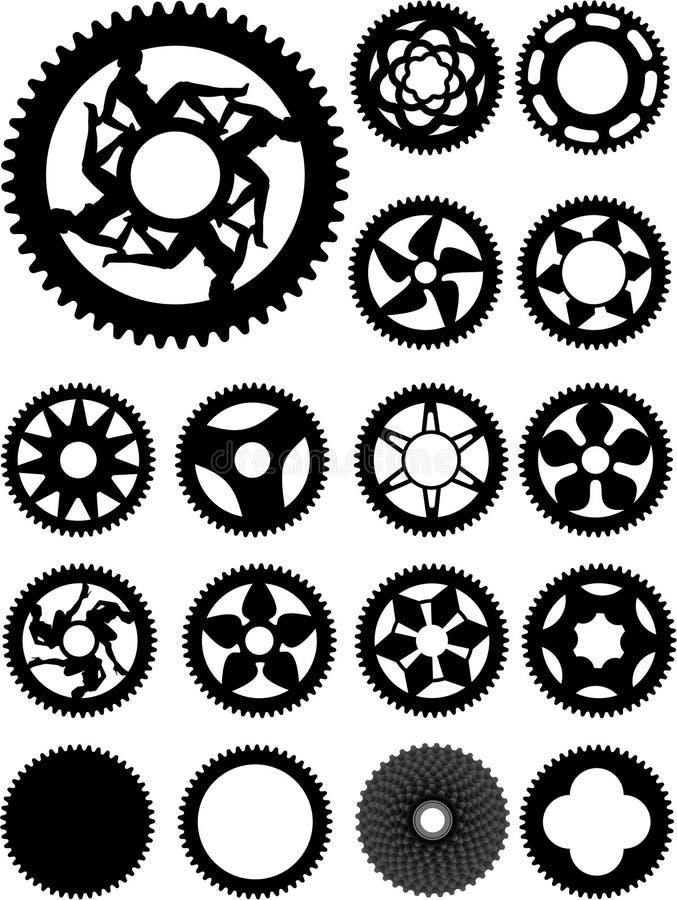 Dientes de la bici ilustración del vector