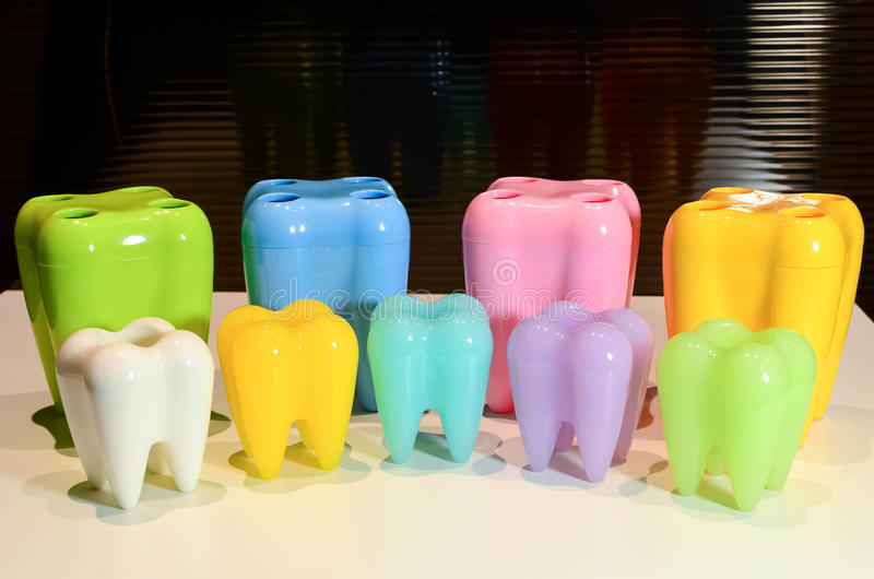 Dientes modelo coloridos foto de archivo libre de regalías