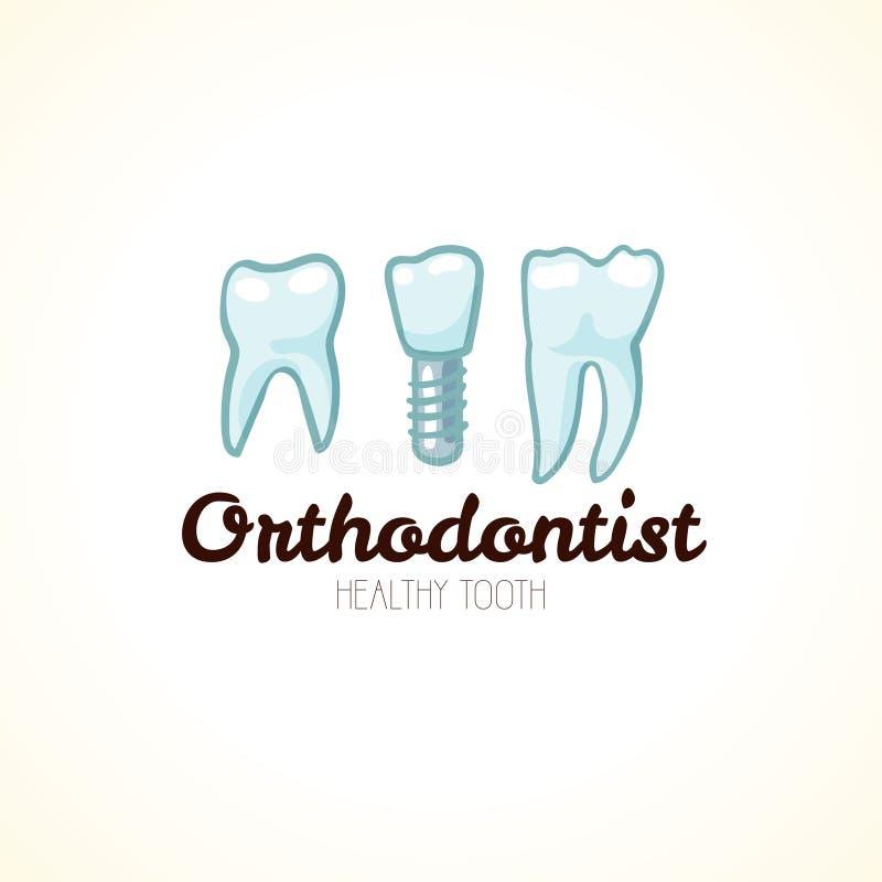 Dientes sanos del orthodontist País del movimiento del color de los busines del Internet del Web del recorrido del planeta de la  libre illustration