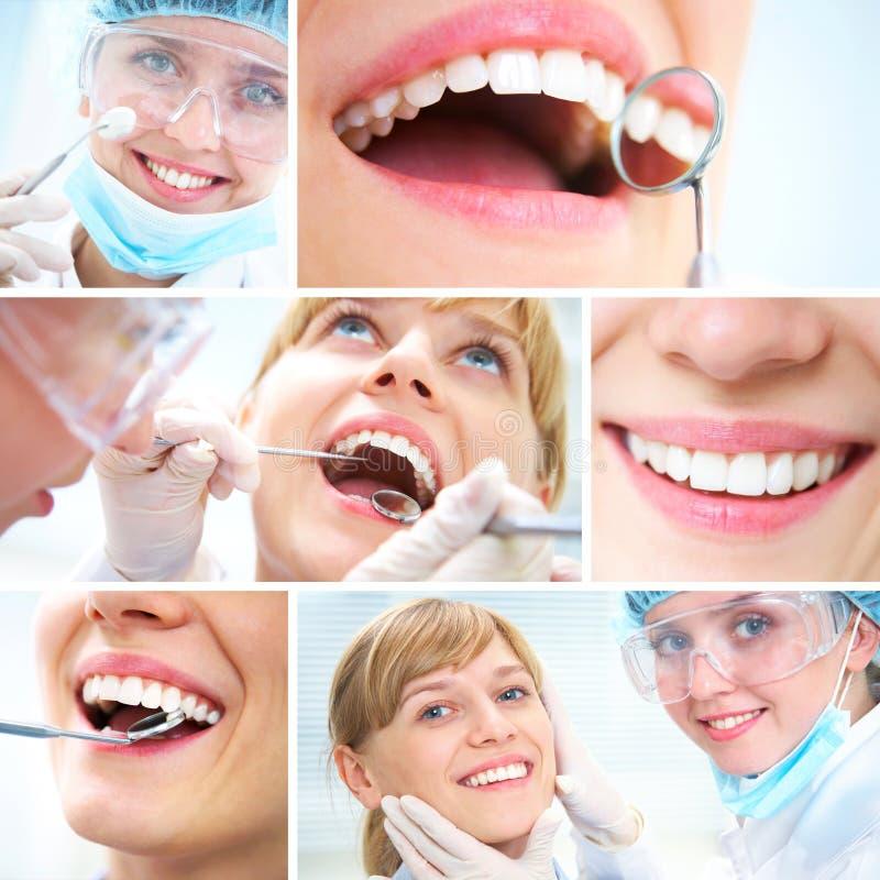 Dientes sanos y doctor dental fotos de archivo