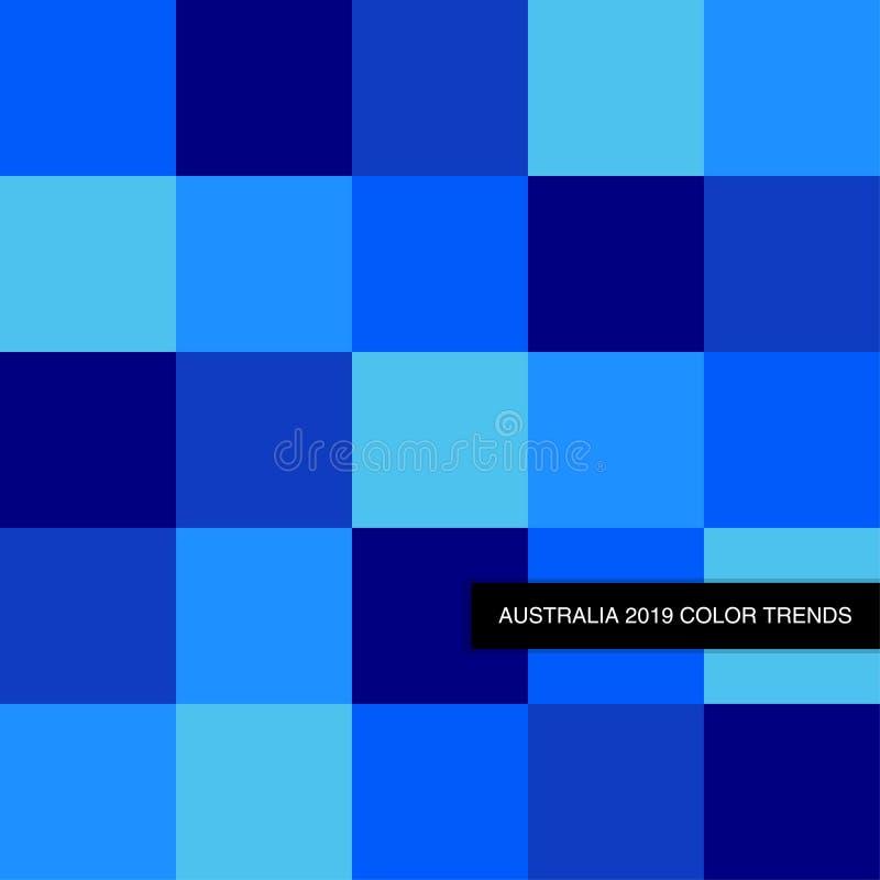 In Diep Blauw de Kleurenpalet van 2019 als abstracte naadloze achtergrond vector illustratie