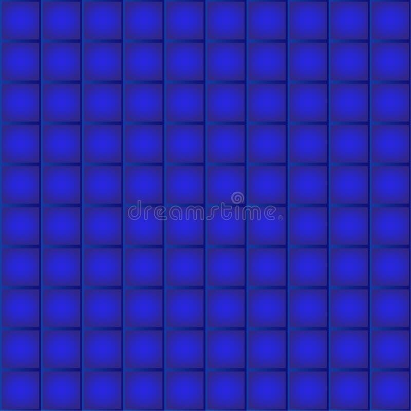 Diep blauw tegels naadloos patroon vector illustratie