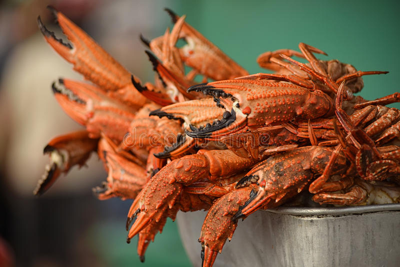 Diep Fried Crabs royalty-vrije stock fotografie