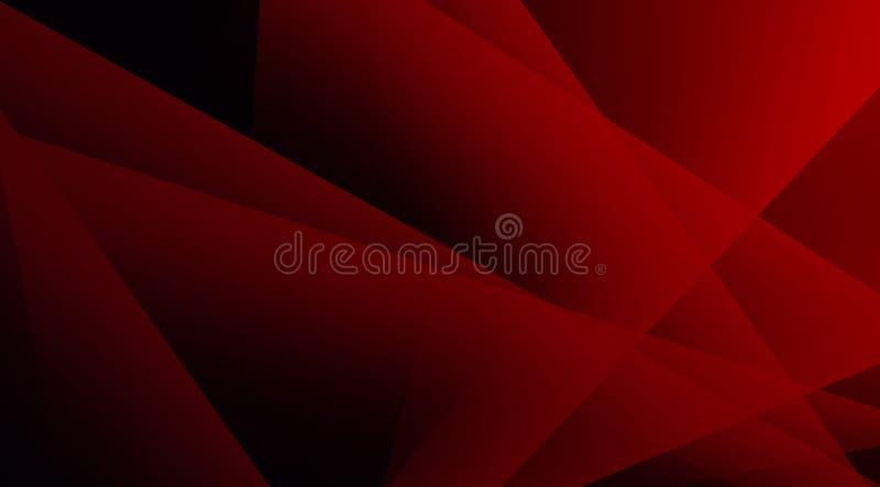 Diep heldere rode, transparante driehoeken ontwerpen zachte en vreedzame achtergrond stock fotografie