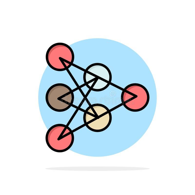 Diep leren, Algoritme, van de Achtergrond gegevens Abstract Cirkel Vlak kleurenpictogram royalty-vrije illustratie