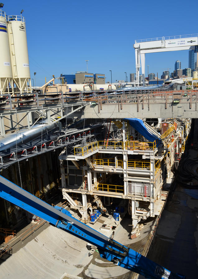 Diep Seattle droeg Tunnelproject royalty-vrije stock foto's