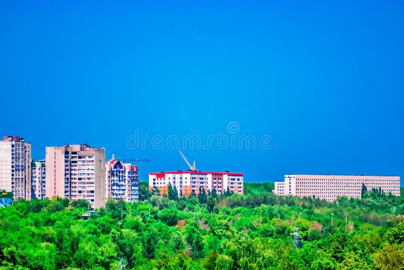 Diepe blauwe hemel royalty-vrije stock foto