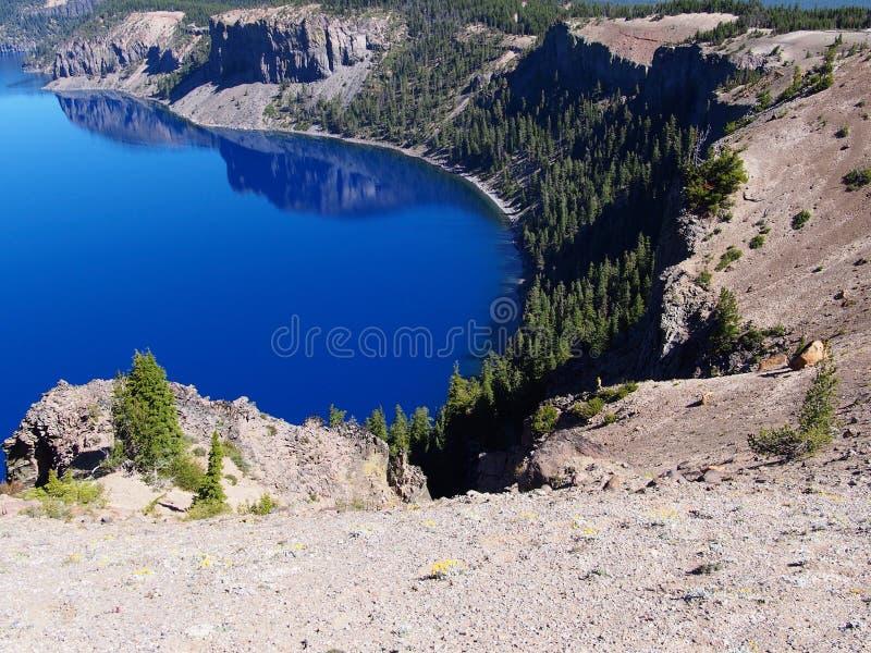 Diepe blauwe wateren royalty-vrije stock afbeelding