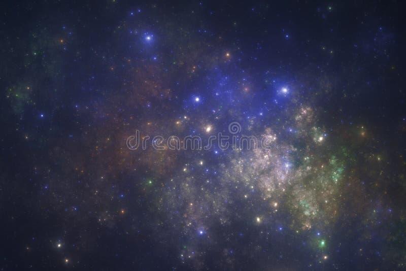 Diepe ruimte starfield royalty-vrije illustratie