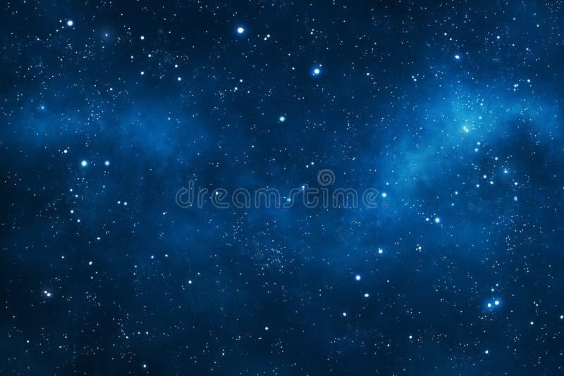 Diepe ruimteachtergrond royalty-vrije illustratie