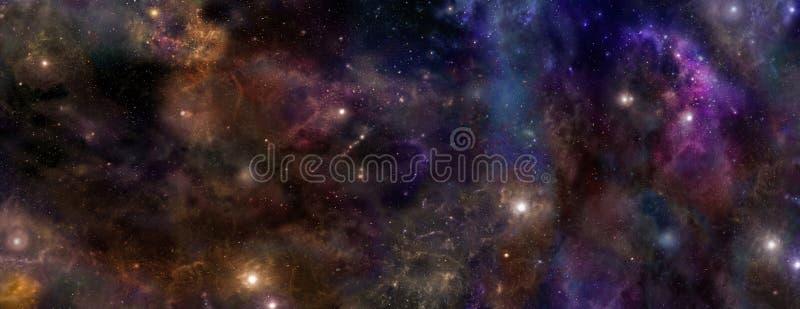 Diepe ruimteachtergrond stock foto's