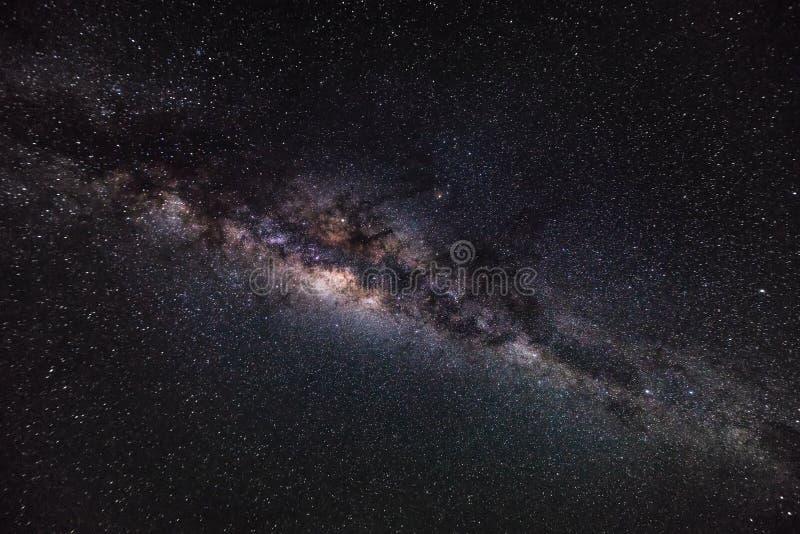 Diepe ruimteachtergrond met stardust en glanzende ster Melkweg royalty-vrije stock afbeeldingen