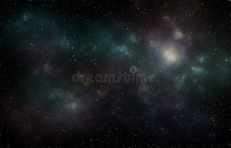 Diepe ruimteheelalsterren stock fotografie