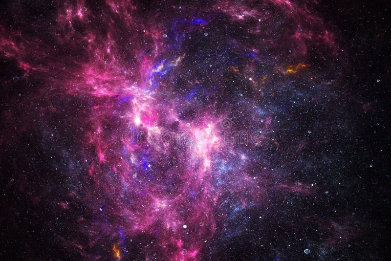 Diepe ruimtenevel met sterren royalty-vrije stock foto