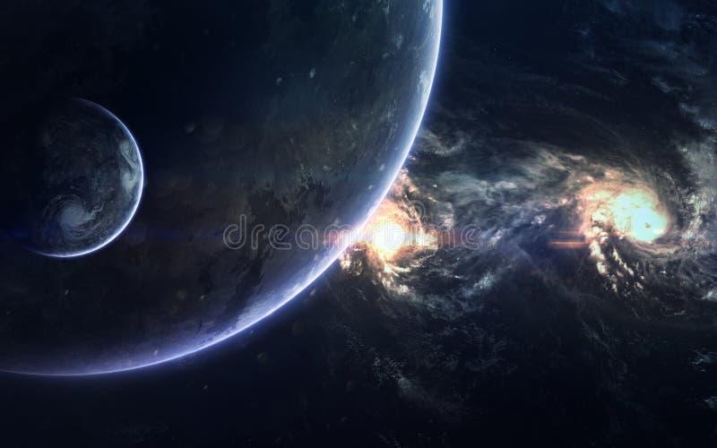 Diepe ruimteschoonheid, planeten, sterren en melkwegen in eindeloos heelal Elementen van dit die beeld door NASA wordt geleverd royalty-vrije stock foto