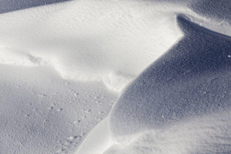 Diepe sneeuwafwijkingen royalty-vrije stock afbeelding
