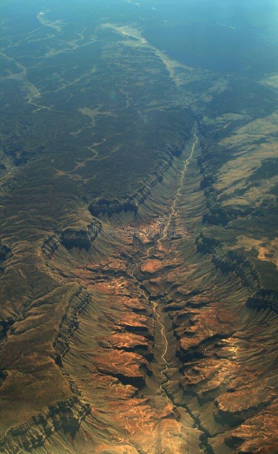 Diepe vallei royalty-vrije stock fotografie