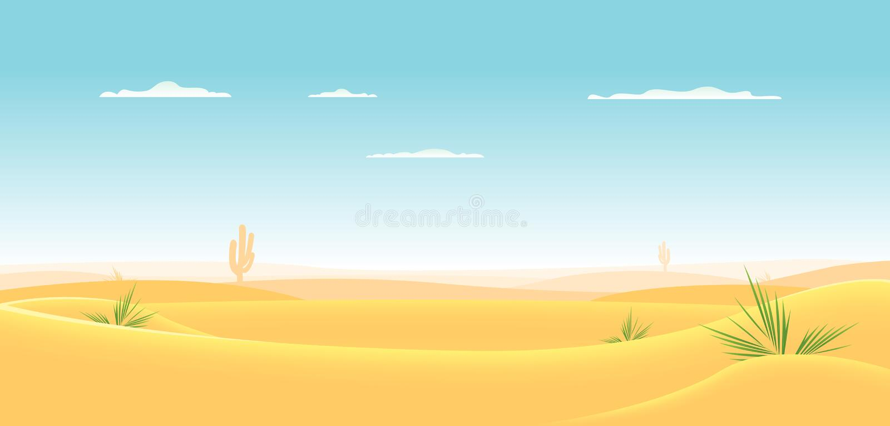 Diepe Westelijke Woestijn vector illustratie