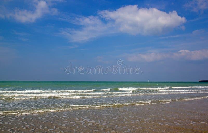 Dieppe, la playa Seine-Maritime Normandía Francia fotografía de archivo