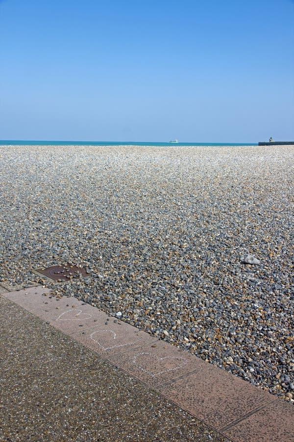 Dieppe, la playa Seine-Maritime Normandía Francia imagen de archivo