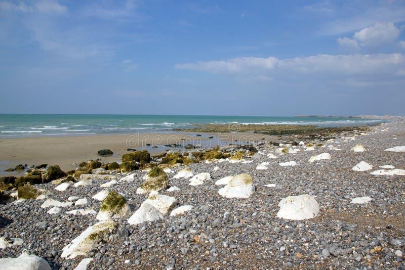 Dieppe, la playa Seine-Maritime Normandía Francia imagenes de archivo
