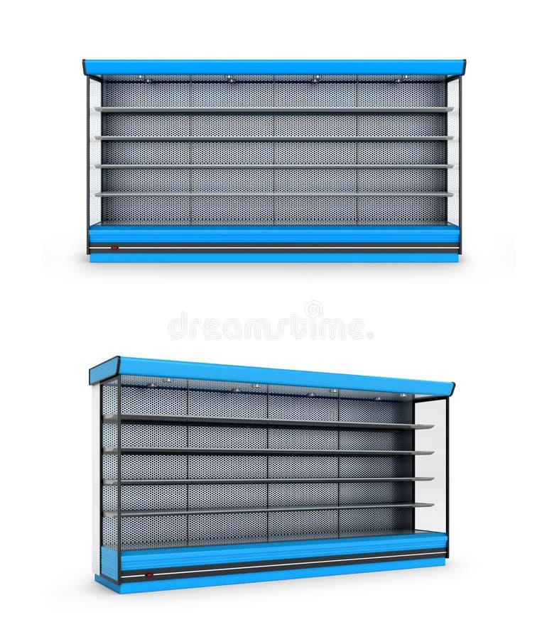 Diepvriezerwinkel of plank op een witte achtergrond stock illustratie