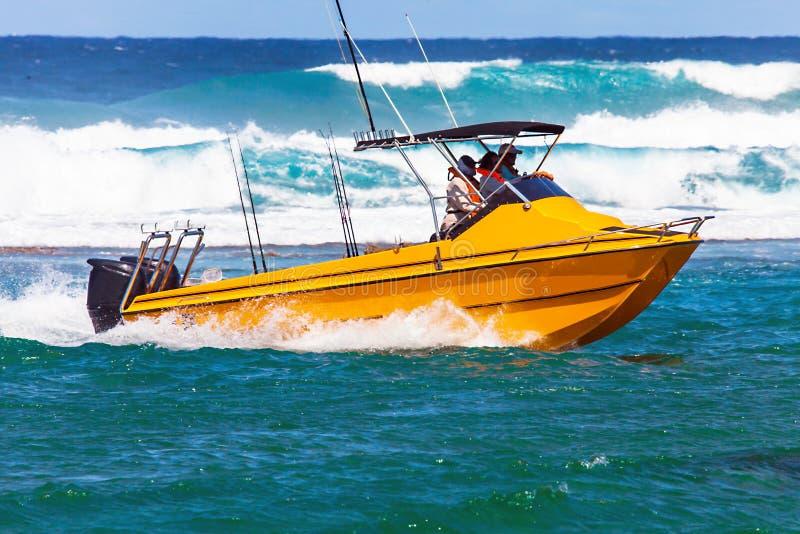 Diepzee visserij bij iSimangaliso-moerasland-park Zuid-Afrika royalty-vrije stock afbeeldingen