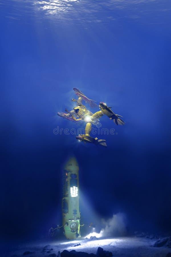 Diepzeevoertuig vector illustratie