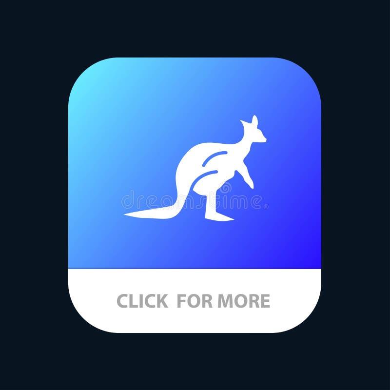 Dier, Inheems Australië, Australisch, Kangoeroe, de Knoop van de Reismobiele toepassing Android en IOS Glyph Versie stock illustratie