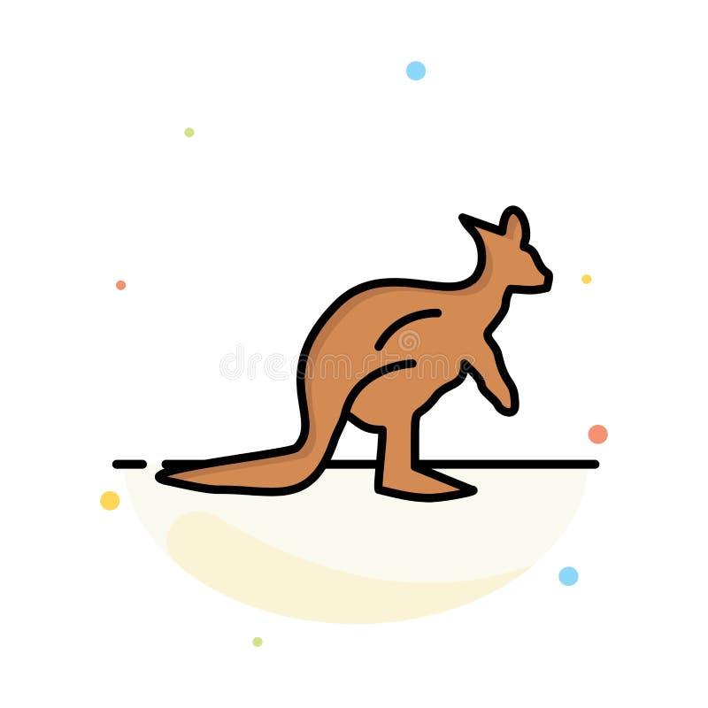 Dier, Inheems Australië, Australisch, Kangoeroe, het Pictogrammalplaatje van de Reis Abstract Vlak Kleur royalty-vrije illustratie