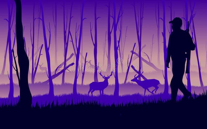 Dier jager stock illustratie