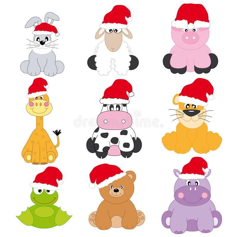 Dier-kerstman Claus vector illustratie