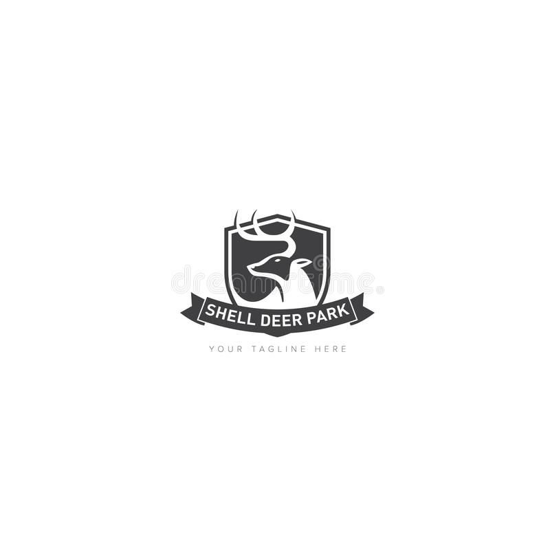 Diercategorie voor Schildpark Logo Design royalty-vrije illustratie