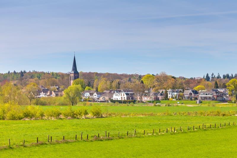 Dieren小荷兰村庄在Veluwe前面的 库存照片