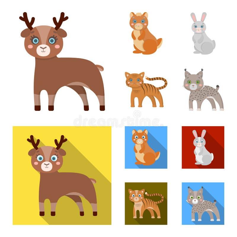 Dieren, binnenlands, wild en ander Webpictogram in beeldverhaal, vlakke stijl Dierentuin, speelgoed, kinderen, pictogrammen in va vector illustratie