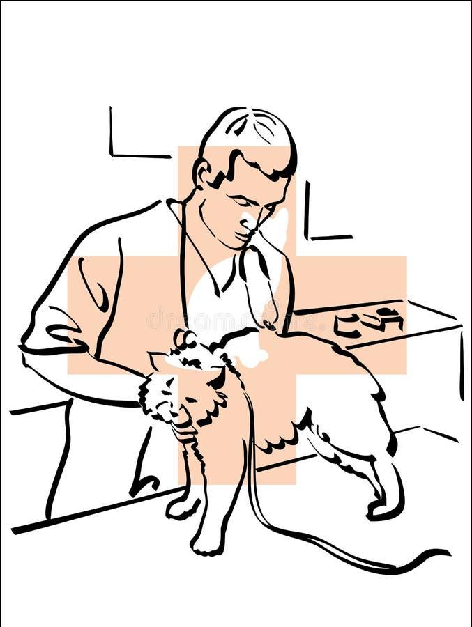 Dierenarts stock illustratie