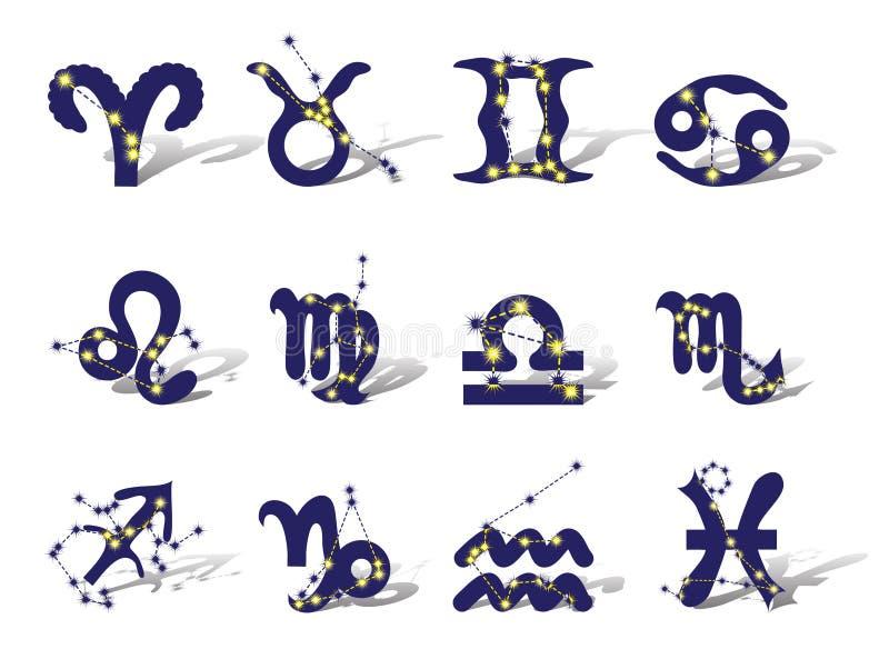 Dierenriem vector illustratie