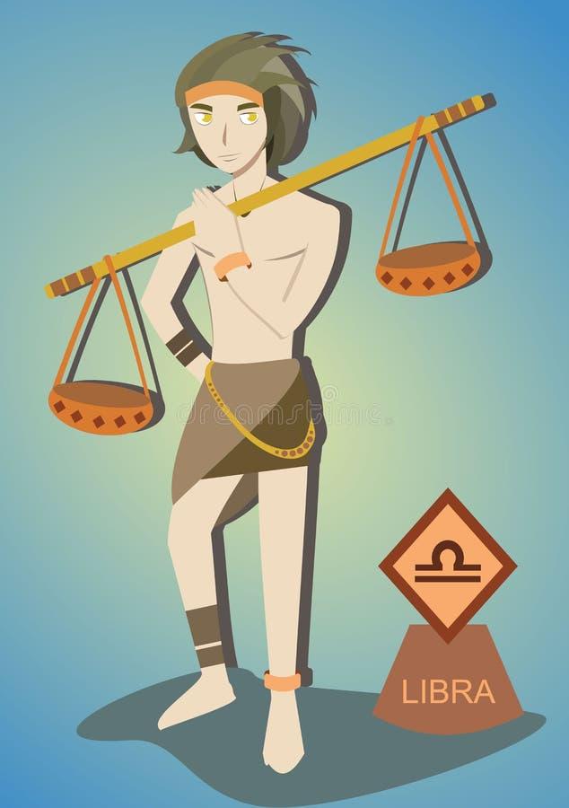 Dierenriemmens: Weegschaal royalty-vrije illustratie