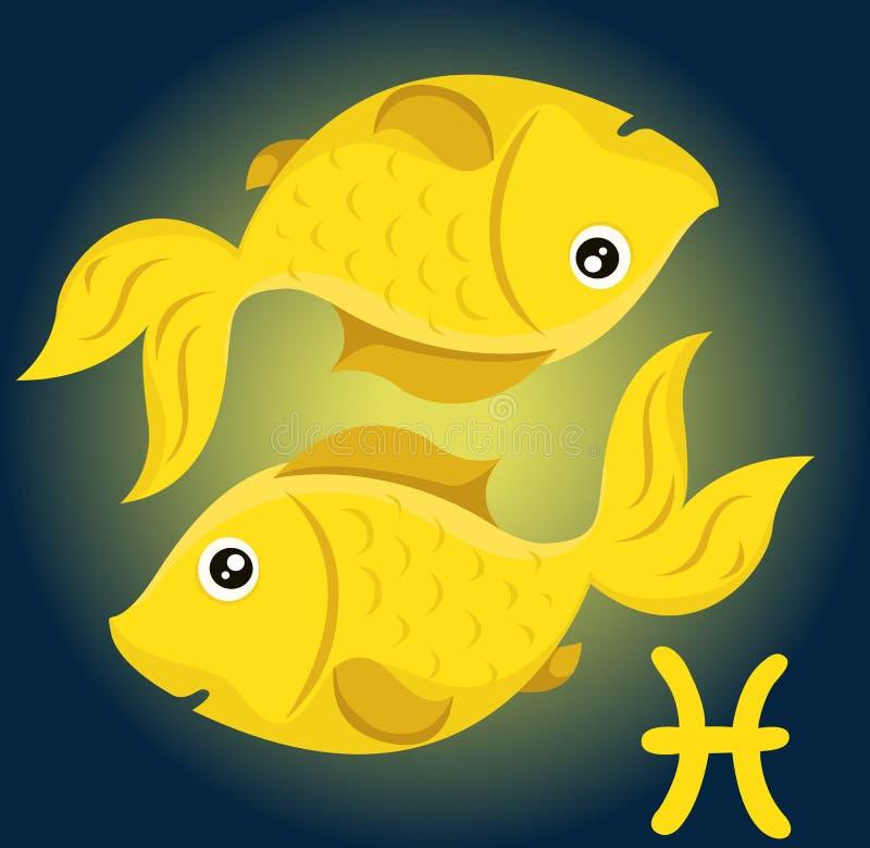 Dierenriempisces teken vector illustratie