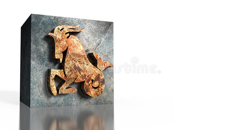 Dierenriemteken van Steenbok vector illustratie