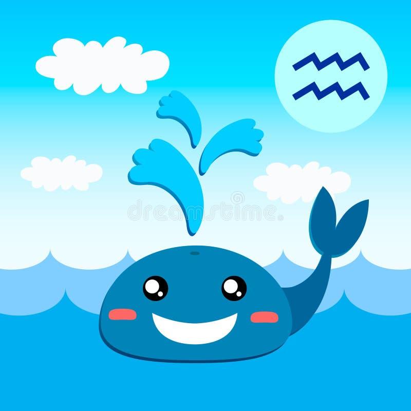 Dierenriemteken Waterman vector illustratie