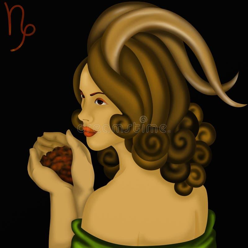 Dierenriemtekens - Capricornus stock illustratie