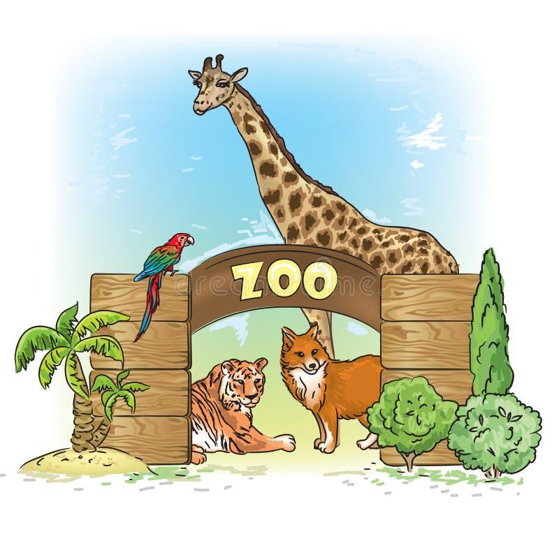 dierentuin vector illustratie