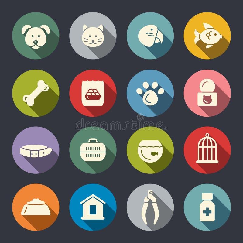 Dierenwinkelpictogrammen royalty-vrije illustratie