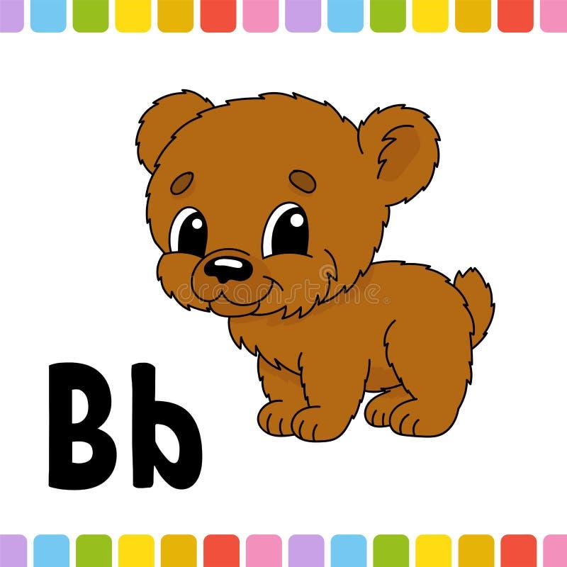 Dierlijk alfabet Dierentuin ABC Beeldverhaal leuke die dieren op witte achtergrond worden geïsoleerd Voor jonge geitjesonderwijs  stock illustratie