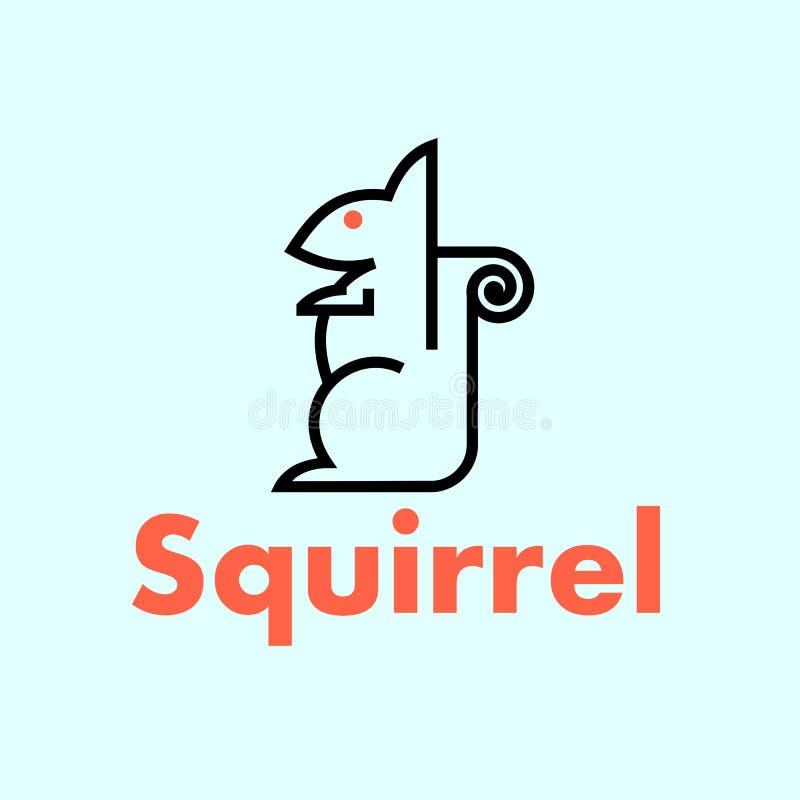 Dierlijk embleem Eekhoornembleem eenvoudig dierlijk embleem stock illustratie