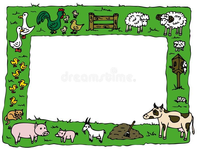 Dierlijk landbouwbedrijfframe stock illustratie