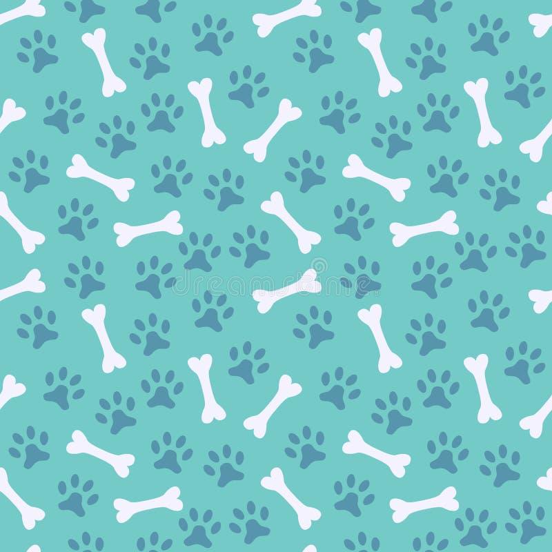 Dierlijk naadloos vectorpatroon van pootvoetafdruk stock illustratie