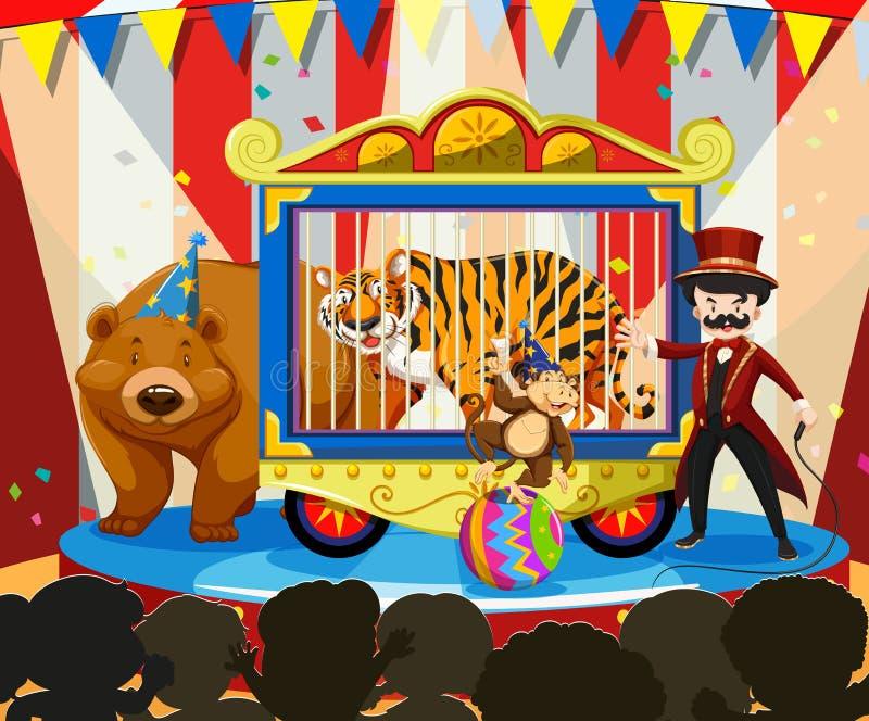 Dierlijk toon in Carnaval vector illustratie